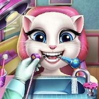 Angéla cica fogorvosnál