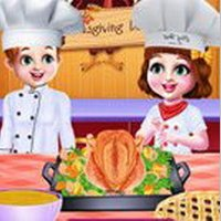 Chef Twins Thanksgiving Dinner Cooking