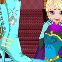 لعبة تصميم حذاء هاي بوت السا فروزن
