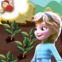 Elsa kertészkedik