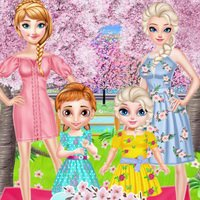 Frozen Family Flower Picnic