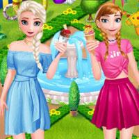 Jégvarázs hercegnők fagyiznak