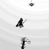Halloweeni boszorkány reptetés