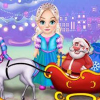 Little Elsa Clean Christmas Carriage