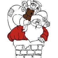 Télapós, karácsonyos színező gyerekeknek