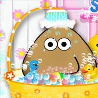 لعبة استحمام الطفل بو للموبايل Pou Baby Bathing