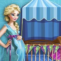 Terhes Elza baba szobát dekorál