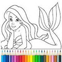 Princess Mermaid Coloring Game