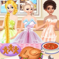 Princesses Cooking Christmas Dinner